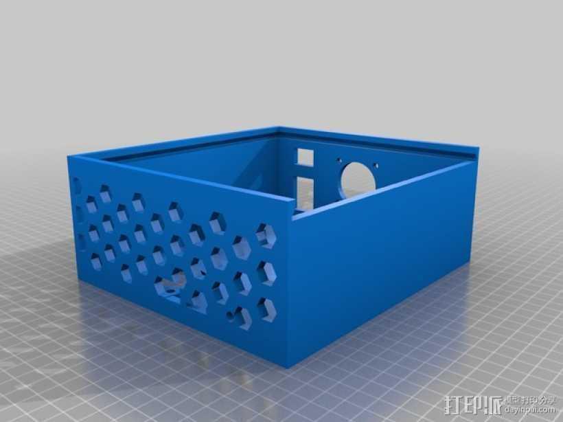 Azteega X3 pro电路板保护罩 3D打印模型渲染图