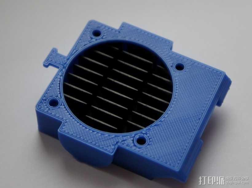 风扇通风导管 风扇支架 3D打印模型渲染图