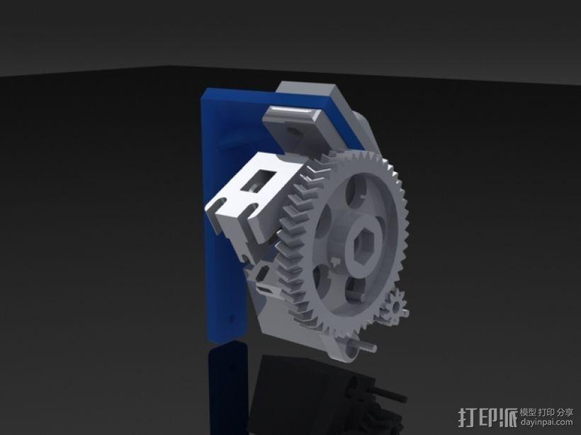 鲍登挤出机支架 3D打印模型渲染图