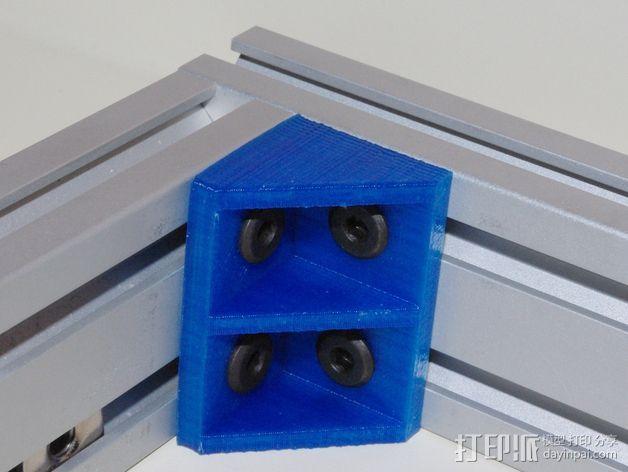 打印机的角托架 3D打印模型渲染图