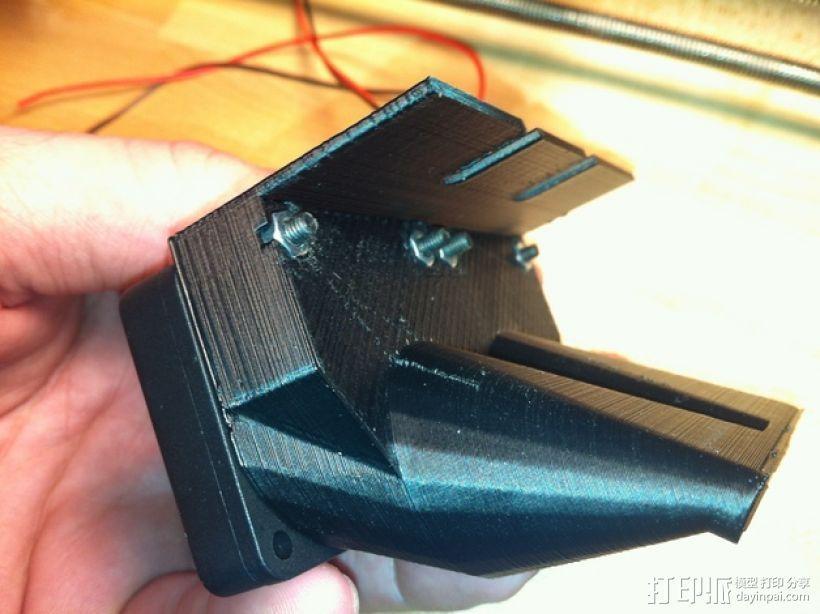 双风扇导管 3D打印模型渲染图