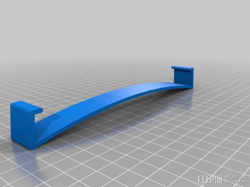 Replicator 2X打印机的构建床固定夹 3D打印模型渲染图
