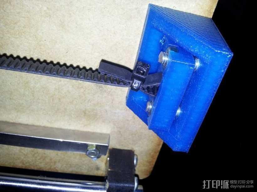 Printrbot plus打印机Y轴的皮带张紧器 3D打印模型渲染图