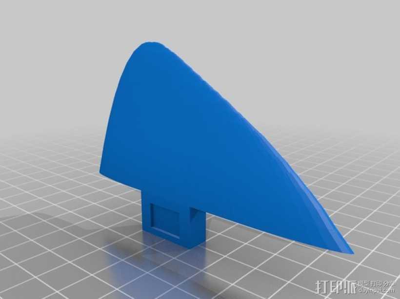 冲浪板鳍 3D打印模型渲染图