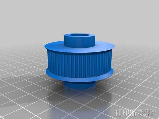 GT2皮带滑轮 3D打印模型渲染图