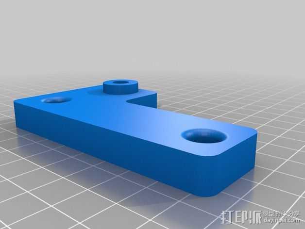 Printrbot Simple 打印机Z轴稳定器 3D打印模型渲染图