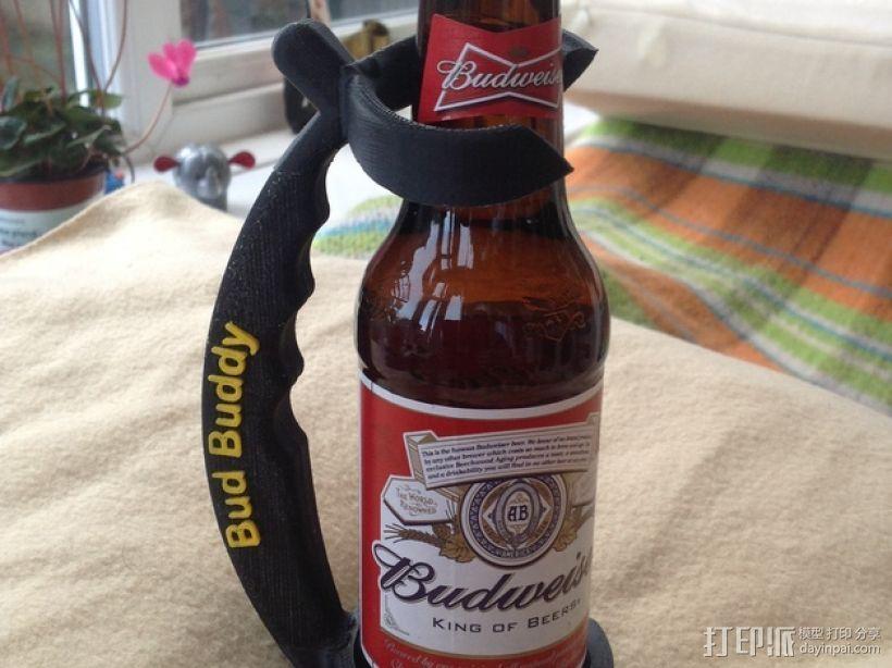 啤酒瓶支架 3D打印模型渲染图