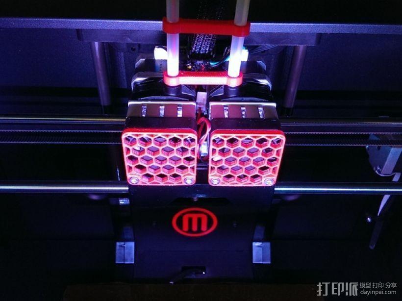 蜂巢式风扇罩 3D打印模型渲染图