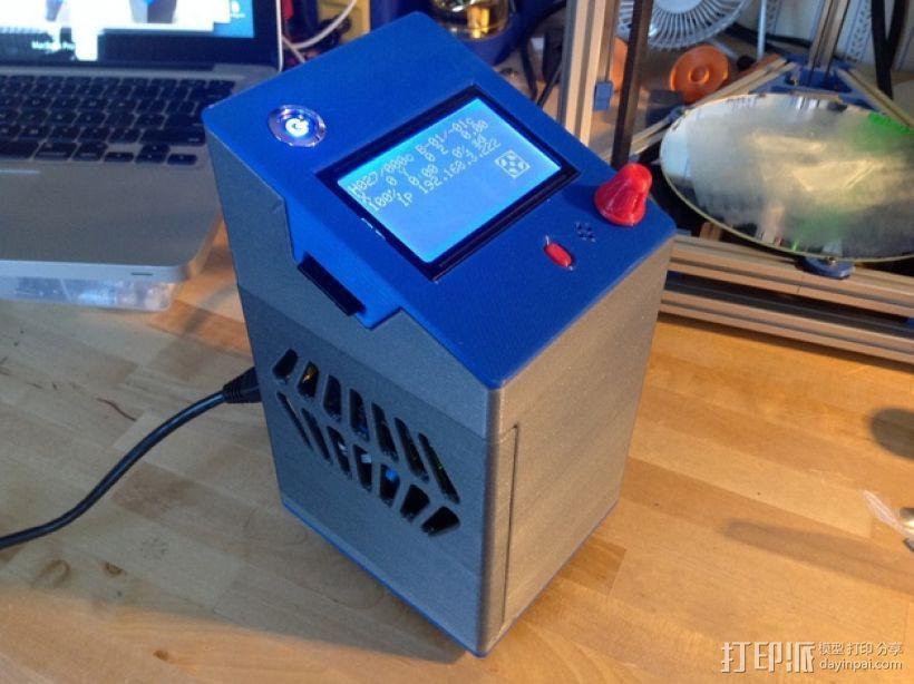 控制器电路板保护罩 3D打印模型渲染图