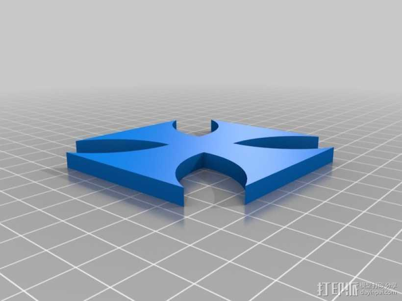 铁十字勋章 3D打印模型渲染图