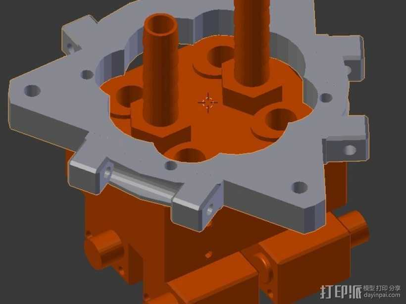 打印机的喷头支架 3D打印模型渲染图