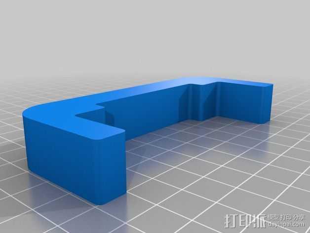 双挤出机调平工具 3D打印模型渲染图
