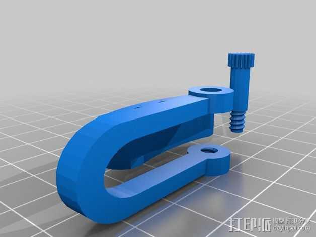打印机框架固定夹 3D打印模型渲染图