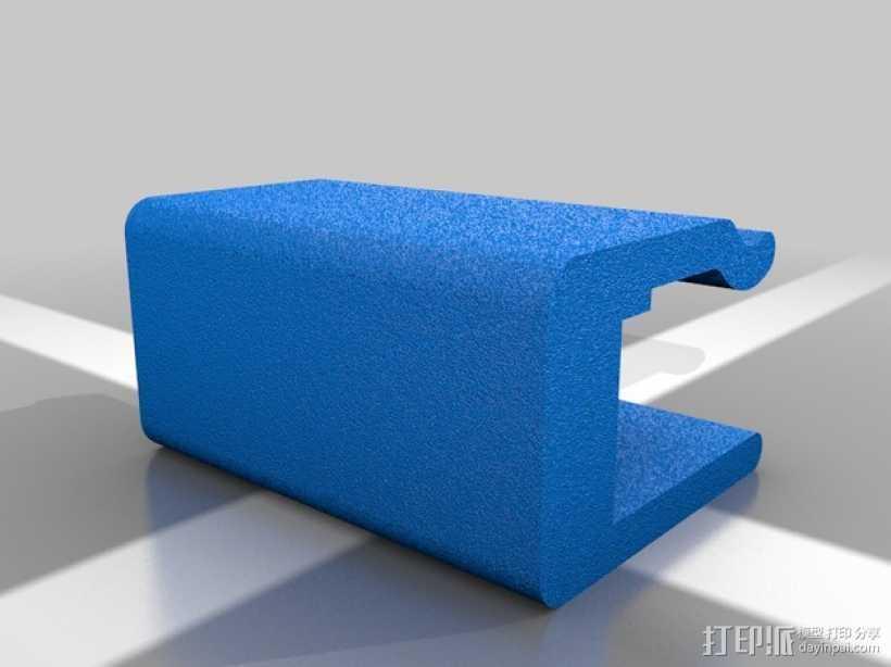Makerbot 2X 打印机的玻璃板固定夹 3D打印模型渲染图