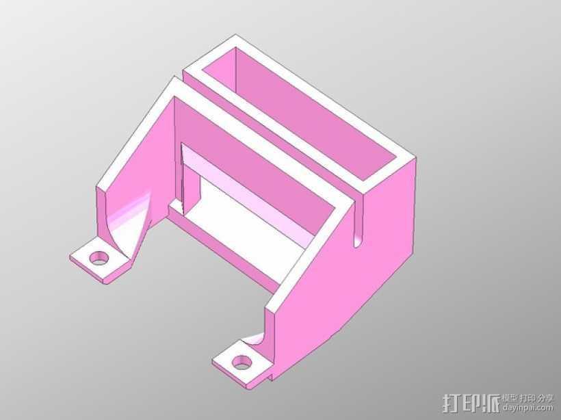 PP3DP Up Plus 打印机的换气扇 3D打印模型渲染图