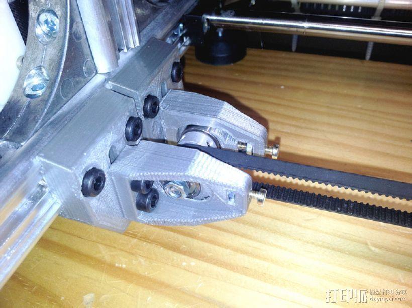 X轴的惰轮支架 3D打印模型渲染图