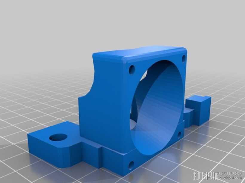 e3d喷头的风扇 3D打印模型渲染图