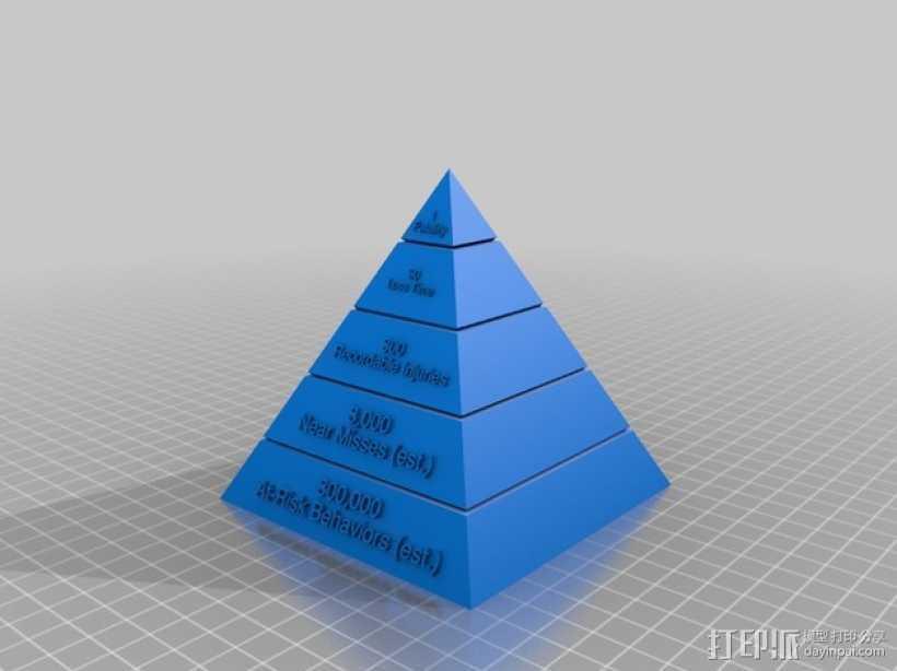 海因里希金字塔 3D打印模型渲染图