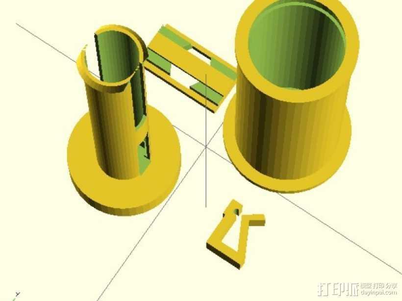 线卷支架和线材夹 3D打印模型渲染图