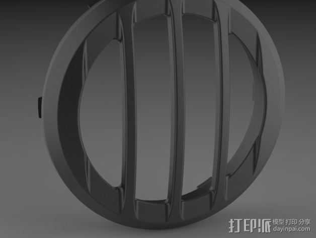 吉普车灯罩 3D打印模型渲染图