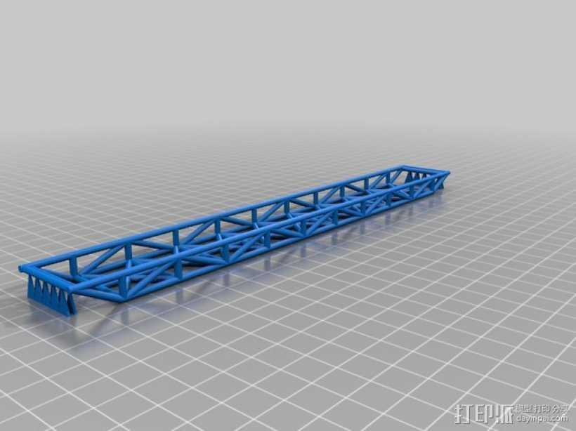 space 1999 桁架桥 3D打印模型渲染图