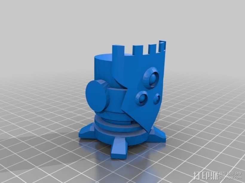 棋子 城堡 车 3D打印模型渲染图