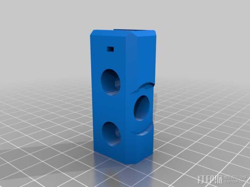 Prusa i3 打印机Y轴的连接器 3D打印模型渲染图