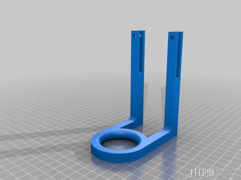 Prusa i3打印机的导线器 3D打印模型渲染图