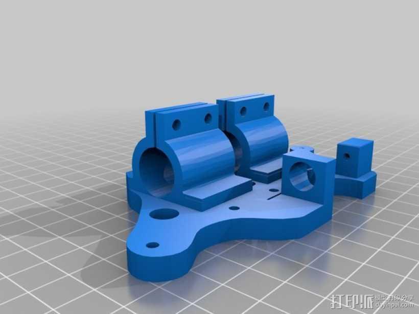 鲍登管支架 3D打印模型渲染图
