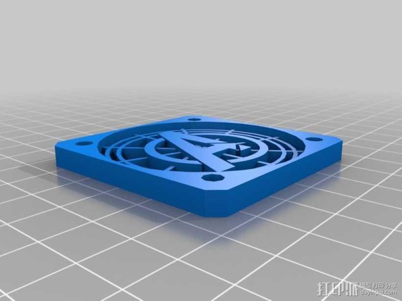 50毫米的风扇罩 3D打印模型渲染图