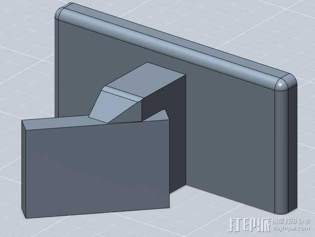 WiFi摄相机支撑框 3D打印模型渲染图