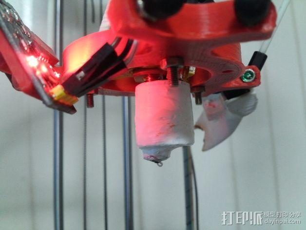 喷头外涂层 3D打印模型渲染图