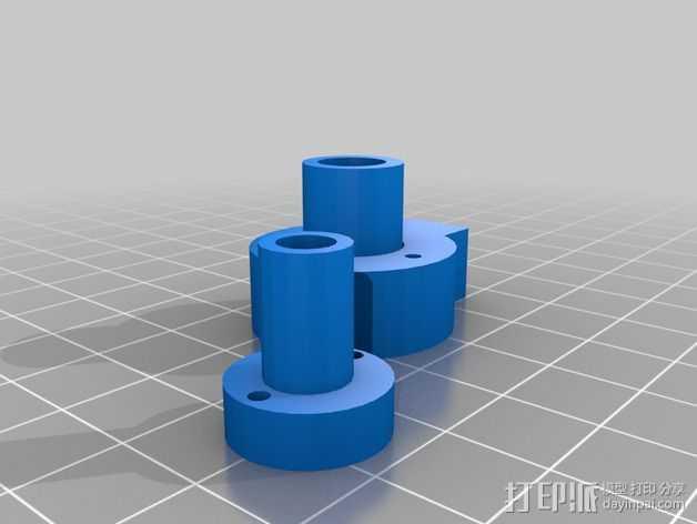 SmartRap 打印机的线轴支撑 3D打印模型渲染图