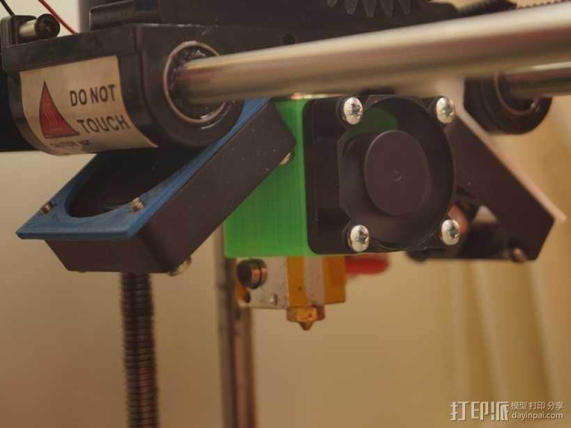 E3D喷头固定架 3D打印模型渲染图