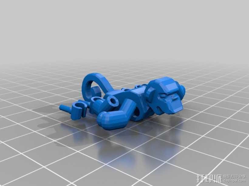 乐高猴子 3D打印模型渲染图