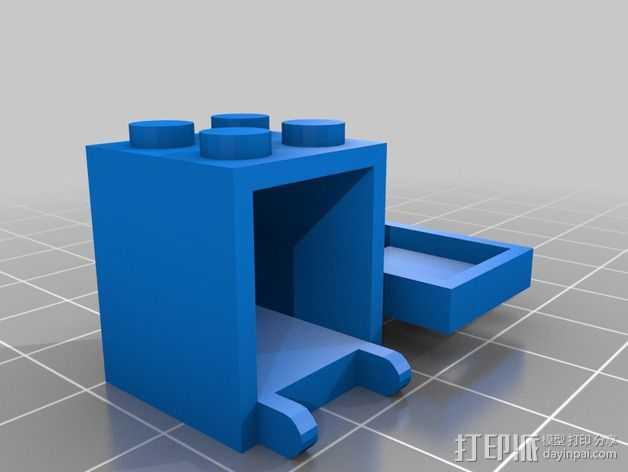 乐高积木邮箱 3D打印模型渲染图