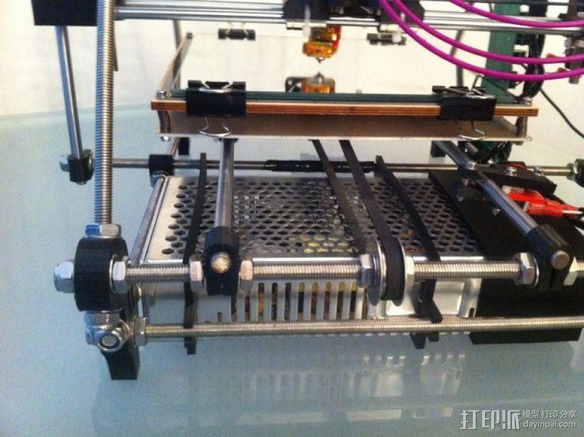 Mendel Prusa i2 打印机的电源/电路板支撑框架 3D打印模型渲染图
