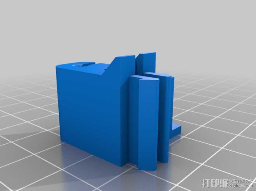 线材管夹 3D打印模型渲染图