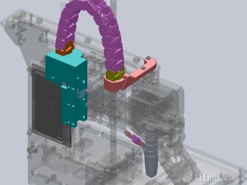 Printrbot Simple打印机的电缆收纳器 3D打印模型渲染图