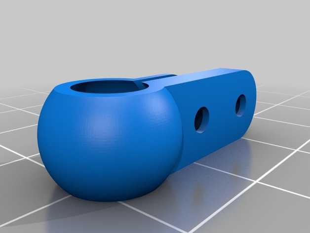 特制基础山型球和夹 10mm 3D打印模型渲染图