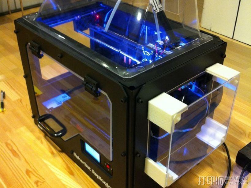 打印机侧面衬板 3D打印模型渲染图