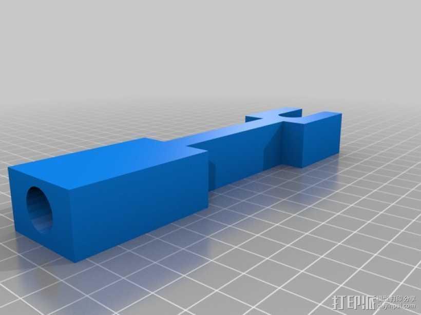 Printrbot Plus 打印机的材料支撑架 3D打印模型渲染图