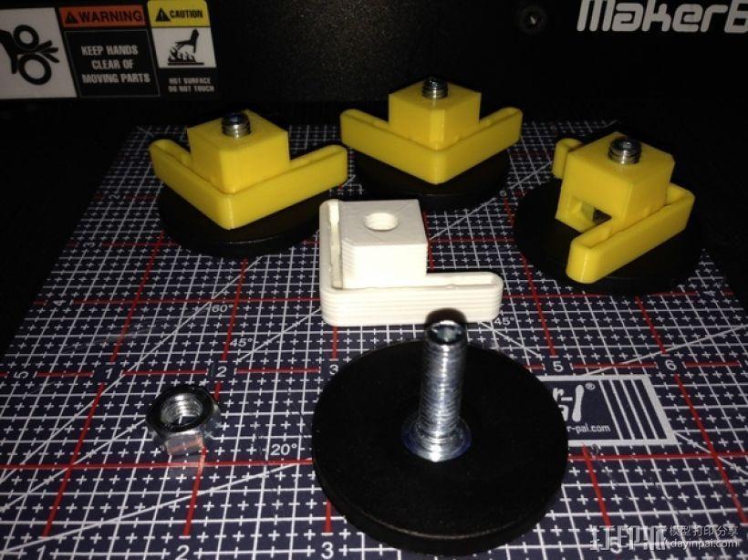 Makerbot Replicator 2/ 2X 打印机的底垫 3D打印模型渲染图