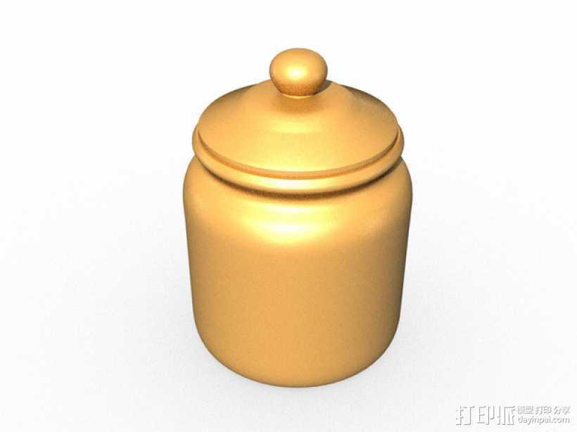 饼干罐 3D打印模型渲染图