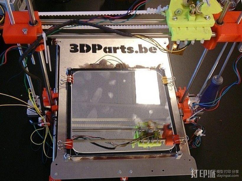 直线驱动挤出机 3D打印模型渲染图