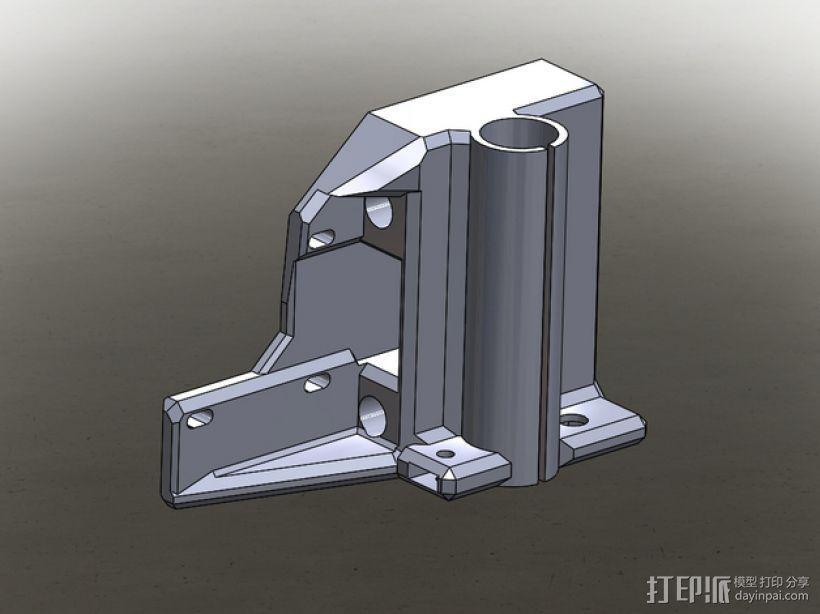 Prusa I3打印机的马达架 3D打印模型渲染图