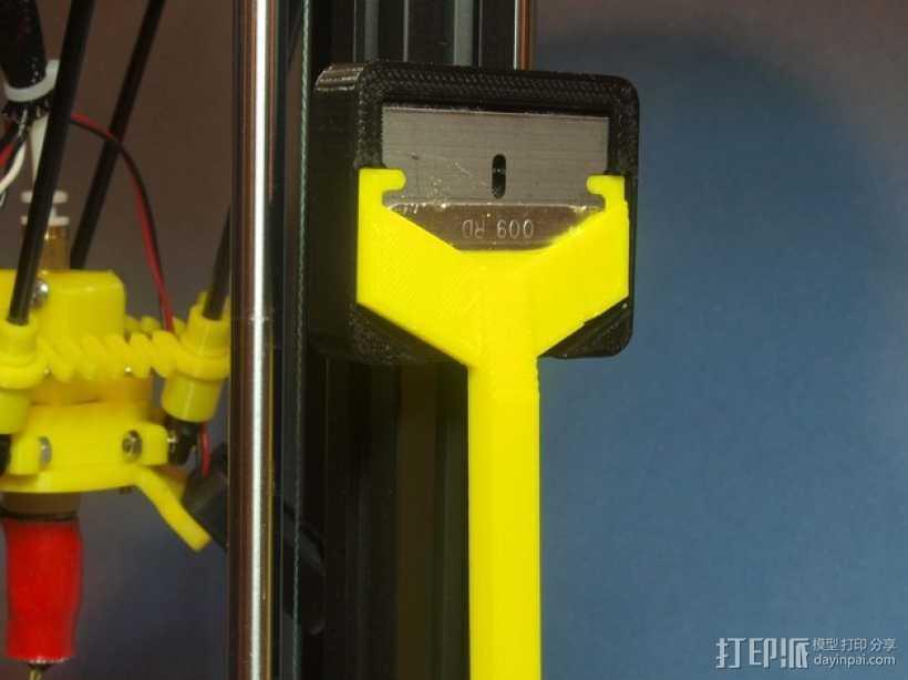 小刮刀刀柄 3D打印模型渲染图