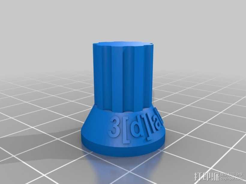 电位计按钮 3D打印模型渲染图