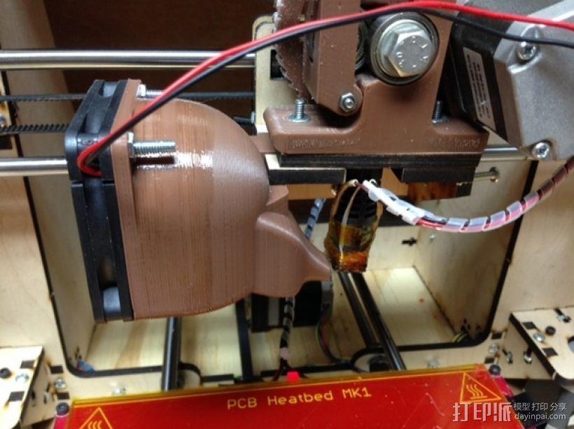 挤出机散热风扇 3D打印模型渲染图