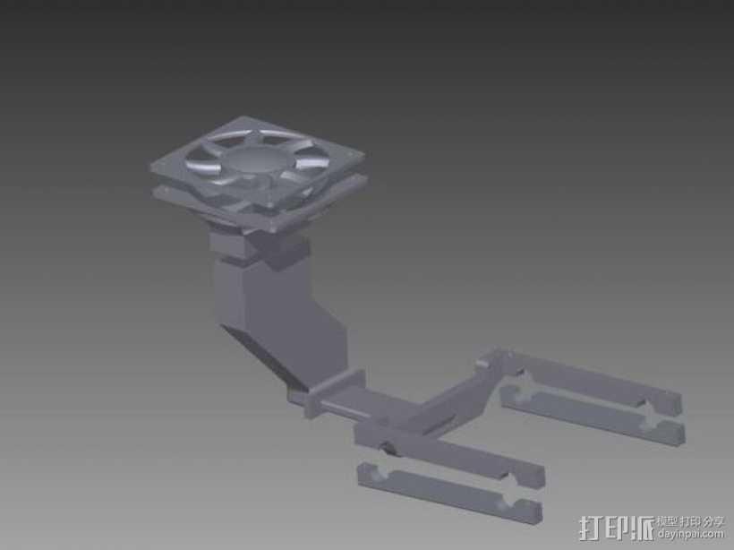 喷头风扇 3D打印模型渲染图